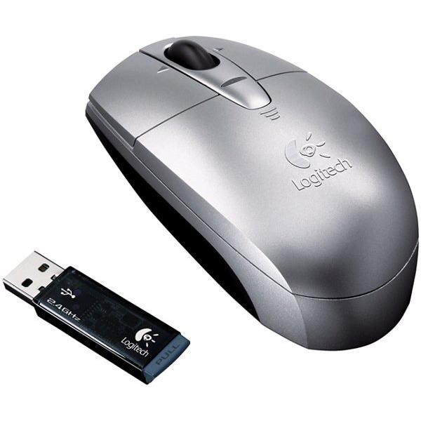 Souris PC Logitech V200 Cordless Notebook Mouse - Silver Logitech V200 Cordless Notebook Mouse - Silver