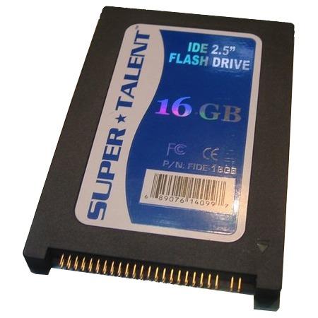 "Disque SSD Super Talent FLHIDE-16G Super Talent Flash Drive - SSD 16 Go 2.5"" IDE"