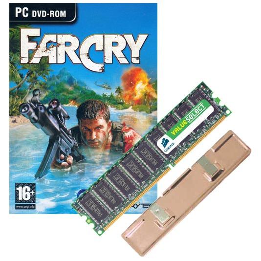 """Mémoire PC Corsair Value 1 Go DDR-SDRAM PC3200 (garantie à vie par Corsair) + Jeu """"Far Cry"""" + Radiateur Corsair Value 1 Go DDR-SDRAM PC3200 (garantie 10 ans par Corsair)   Jeu """"Far Cry""""   Radiateur"""