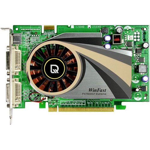 Carte graphique Leadtek Winfast PX7600 GT Extreme - 256 Mo Leadtek Winfast PX7600 GT TDH Extreme - 256 Mo - PCI Express (NVIDIA GeForce 7600 GT)