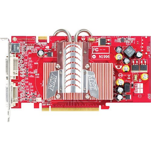 Carte graphique MSI NX7600GT-T2D256EZ MSI NX7600GT-T2D256EZ Fanless - 256 Mo - PCI Express (NVIDIA GeForce 7600 GT)