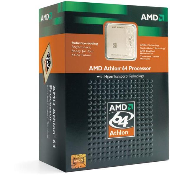 Processeur AMD ADA3500CNBOX AMD Athlon 64 3500+ - 2.2 GHz, Cache L2 512 ko Socket AM2 0.09 micron (version boîte - garantie constructeur 3 ans)