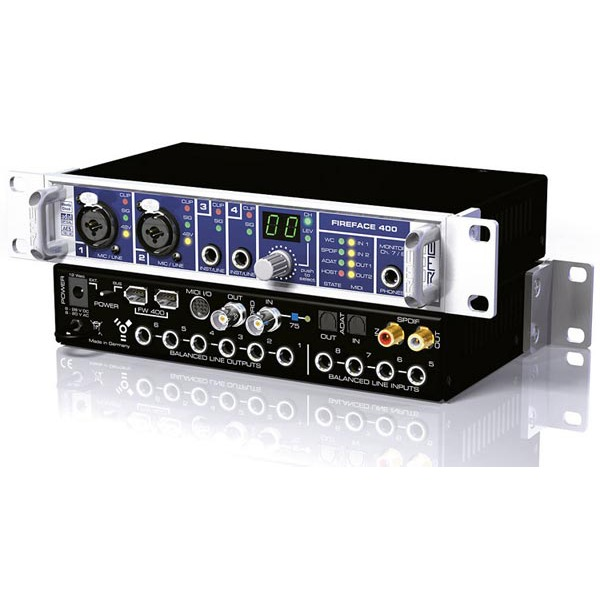 Interface Audio RME FIREFACE 400 RME FIREFACE 400  - Carte audio 54 canaux 42 Bit/ 192 kHz Firewire