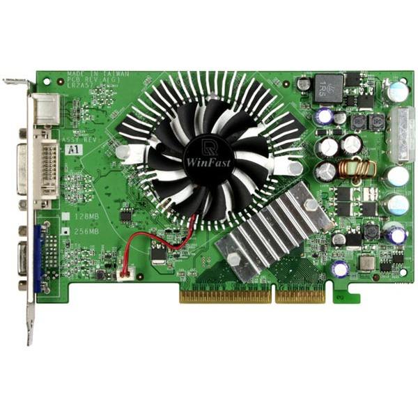 Carte graphique Leadtek WinFast A7600 GT TDH Leadtek WinFast A7600 GT TDH - 256 Mo TV-Out/DVI - AGP (NVIDIA GeForce 7600 GT)