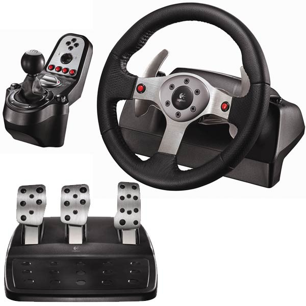 logitech g25 racing wheel volant pc logitech sur. Black Bedroom Furniture Sets. Home Design Ideas