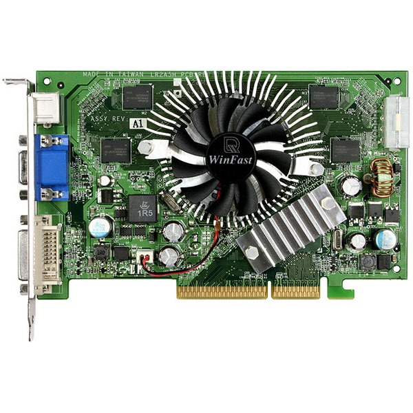 Carte graphique Leadtek WinFast A7600 GS Leadtek WinFast A7600 GS - 256 Mo TV-Out/DVI - AGP (NVIDIA GeForce 7600 GS)