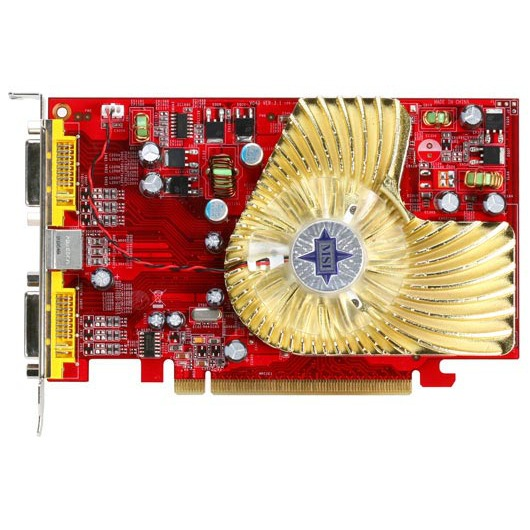 Carte graphique MSI RX1650PRO-T2D256E MSI RX1650PRO-T2D256E - 256 Mo TV-Out/Dual DVI - PCI Express (ATI Radeon X1650 Pro)