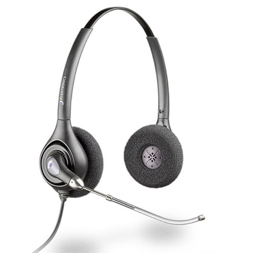 Micro-casque Plantronics H261H Casque SupraPlus Binaural tube vocal câble de raccordement étirable pour téléphone fixe
