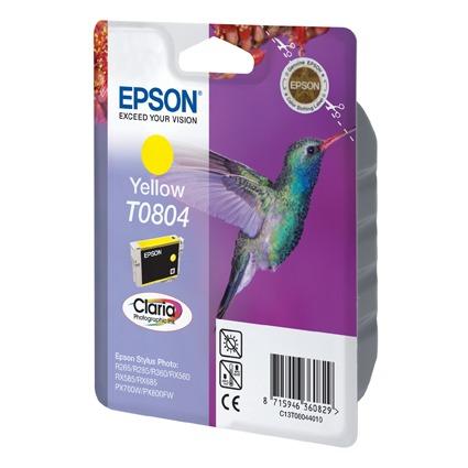 Cartouche imprimante Epson T0804 Epson T0804 - Cartouche d'encre jaune
