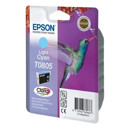 Cartouche imprimante Epson T0805 Epson T0805 - Cartouche d'encre cyan clair