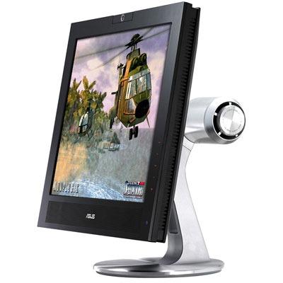 """Ecran PC ASUS PG191 ASUS 19"""" LCD - PG191 - 2 ms (gris à gris) - Multimédia Hub USB Webcam 1.3 Megapixels - Noir/Argent"""
