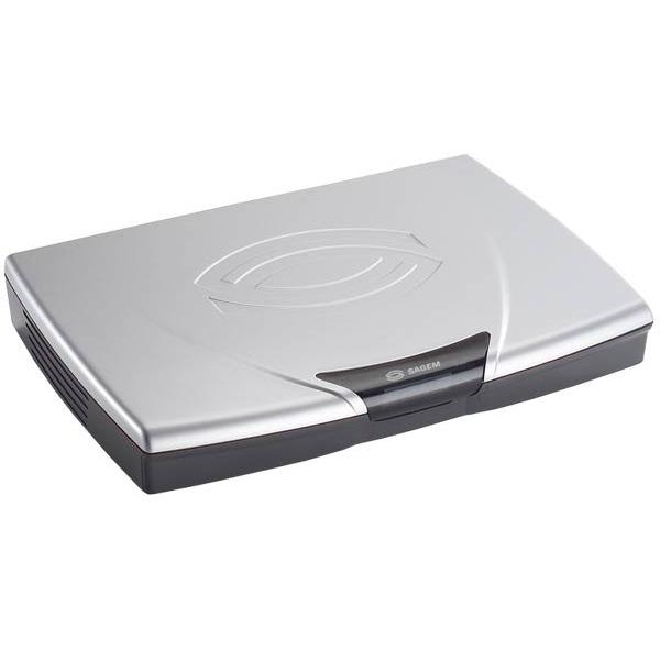 Adaptateur TNT & Sat Sagem DVR 6280SLT Sagem DVR 6280SLT - Adaptateur TNT Double Tuner avec disque dur 80 Go