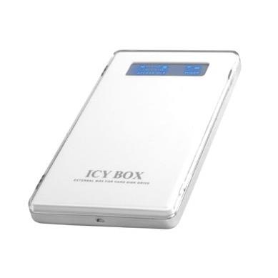 """Boîtier disque dur ICY BOX IB-220U-WH ICY BOX IB-220U-WH - Boîtier externe 2""""1/2 sur port USB 2.0 (blanc)"""