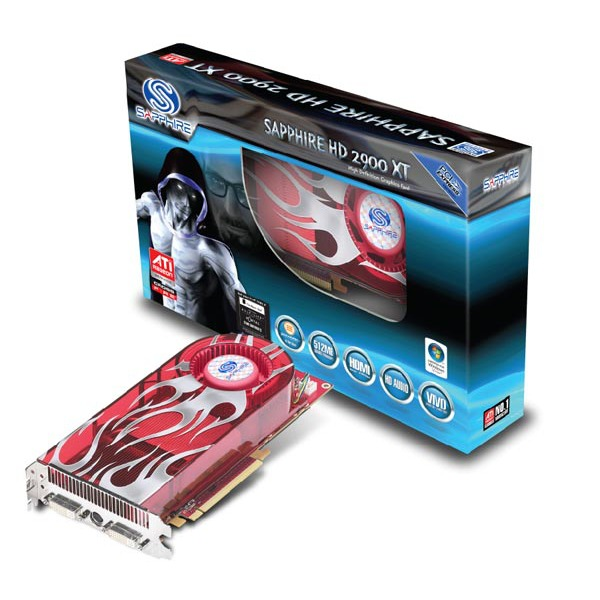 Carte graphique Sapphire HD 2900 XT Sapphire HD 2900 XT - 512 Mo TV-Out/Dual DVI - PCI Express (ATI Radeon HD 2900 XT)