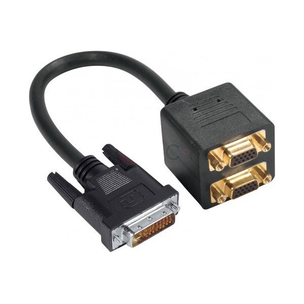 adaptateur dvi i dual link m le 2 vga femelles dvi g n rique sur. Black Bedroom Furniture Sets. Home Design Ideas