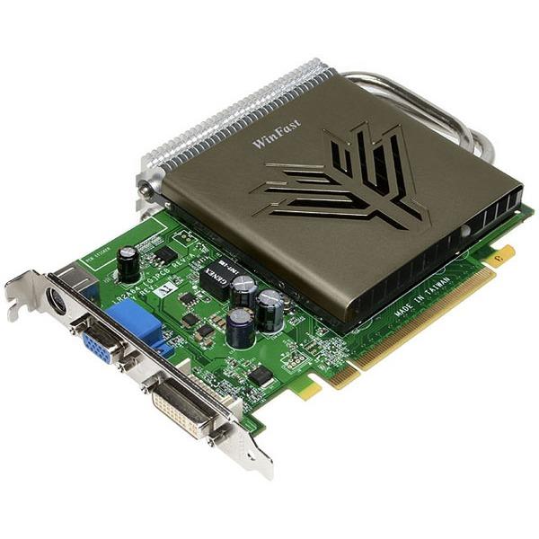Carte graphique Leadtek WinFast PX8500 GT Heatpipe Leadtek WinFast PX8500 GT Heatpipe - 256 Mo TV-Out/DVI - PCI Express (NVIDIA GeForce 8500 GT)