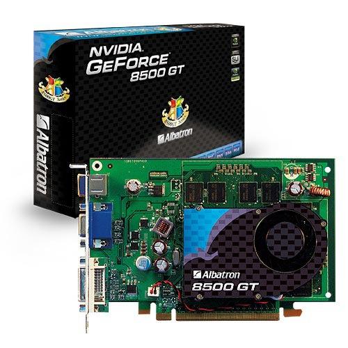 Carte graphique Albatron GeForce 8500 GT - 512 Mo Albatron GeForce 8500 GT - 512 Mo TV-Out/DVI - PCI Express (NVIDIA GeForce 8500 GT)