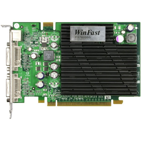 Carte graphique Leadtek WinFast PX7600 GS TDH Heatpipe - 256 Mo Leadtek WinFast PX7600 GS TDH Heatpipe - 256 Mo - PCI Express (NVIDIA GeForce 7600 GS)