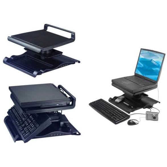 support ergonomique pour pc portable avec hub usb 2 0 4 ports int gr accessoires pc portable. Black Bedroom Furniture Sets. Home Design Ideas
