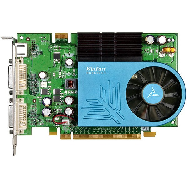 Carte graphique Leadtek WinFast PX8600 GT TDH 512MB Leadtek WinFast PX8600 GT TDH 512MB - 512 Mo TV-Out/Dual DVI - PCI Express (NVIDIA GeForce 8600 GT)