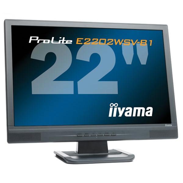 """Ecran PC iiyama ProLite E2202WSV-B1 iiyama 22"""" LCD - ProLite E2202WSV-B1 - 5 ms - Format large 16:10"""