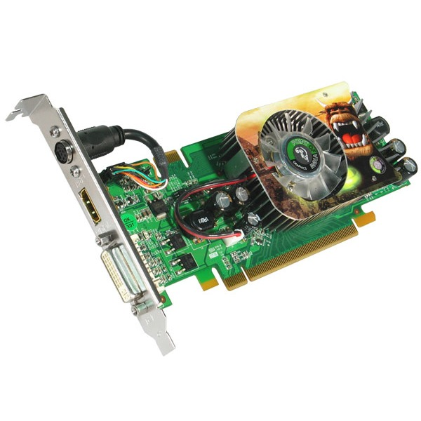 Carte graphique Point of View GeForce 8600 GT Point of View GeForce 8600 GT - 256 Mo DVI/HDMI - PCI Express (NVIDIA GeForce 8600 GT)