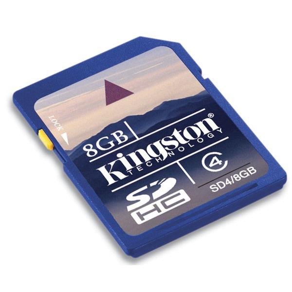 Carte mémoire Kingston SDHC 8 Go Carte mémoire SDHC classe 4 8 Go (garantie 10 ans par Kingston)