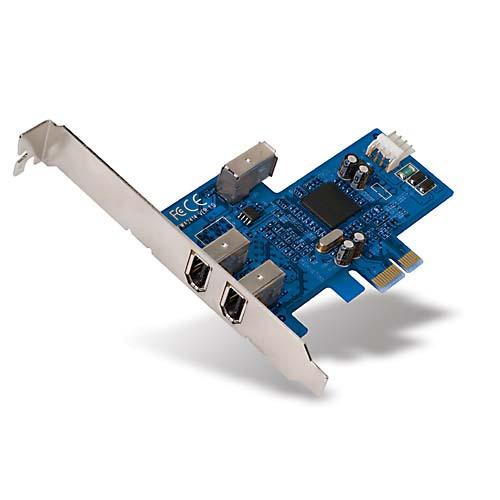 Carte contrôleur Belkin carte contrôleur PCI-E avec 3 ports FireWire 400 Belkin carte contrôleur PCI-E avec 3 ports FireWire 400 (dont 1 interne)