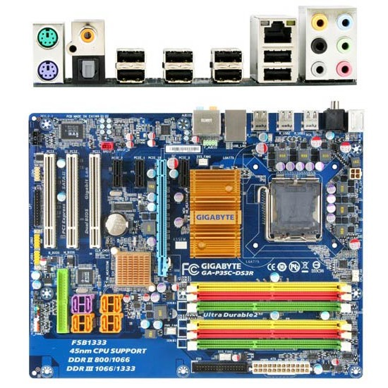 Carte mère Gigabyte GA-P35C-DS3R Gigabyte GA-P35C-DS3R (Intel P35 Express) - ATX