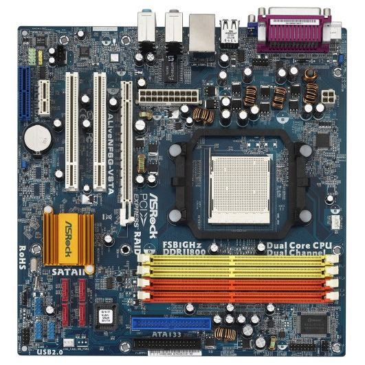 Carte mère ASRock ALiveNF6G-VSTA ASRock ALiveNF6G-VSTA (NVIDIA GeForce 6100) - Micro ATX
