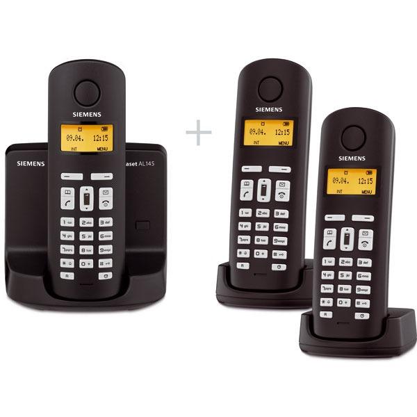 Siemens gigaset al145trio t l phone sans fil siemens sur - Telephone filaire avec repondeur integre ...