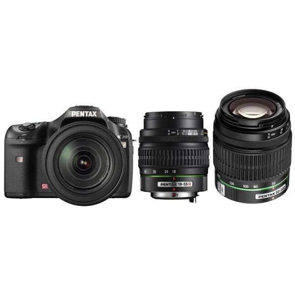 Appareil photo Reflex Pentax K20D + smc DA 18-55mm f/3.5-5.6 AL II + smc DA 50-200mm f/4-5.6 ED Pentax K20D + smc DA 18-55mm f/3.5-5.6 AL II + smc DA 50-200mm f/4-5.6 ED