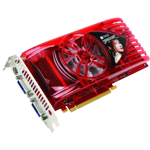 Carte graphique N9600GT-T2D1G-OC MSI N9600GT-T2D1G-OC - 1 Go TV-Out/Dual DVI - PCI Express (NVIDIA GeForce 9600 GT)