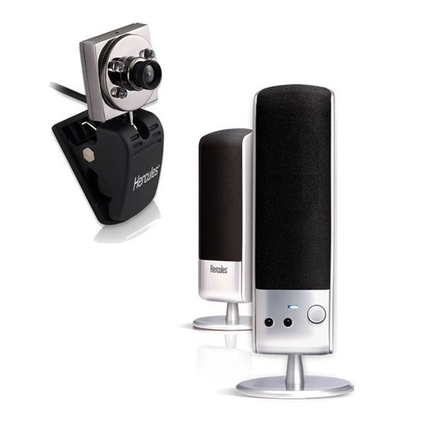 hercules chat pack enceintes webcam casque enceinte pc hercules sur. Black Bedroom Furniture Sets. Home Design Ideas
