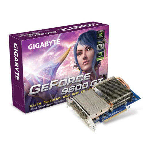 Carte graphique Gigabyte  GV-NX96T512HP Gigabyte  GV-NX96T512HP - 512 Mo TV-Out/Dual DVI - PCI Express (NVIDIA GeForce 9600 GT)