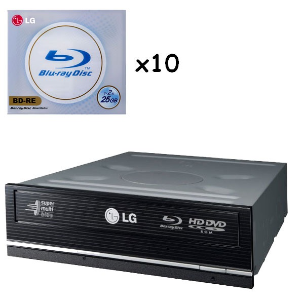 lg ggw h20l combo graveur blu ray et dvd lecteur hd dvd. Black Bedroom Furniture Sets. Home Design Ideas