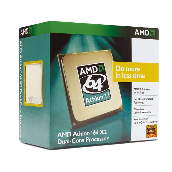 Processeur AMD Athlon 64 X2 Dual-Core 5600+ AMD Athlon 64 X2 Dual-Core 5600+ Socket AM2 0.09 micron (version boîte - garantie constructeur 3 ans)