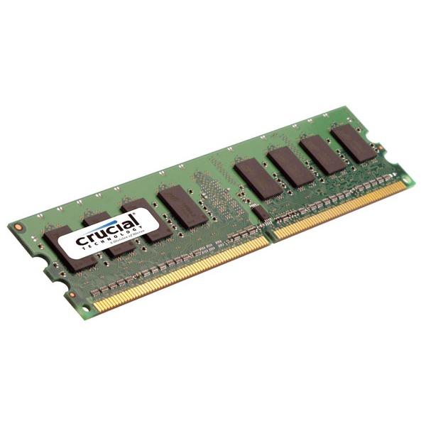 Mémoire PC Crucial 4 Go DDR2 800 MHz ECC Registered Crucial 4 Go DDR2-SDRAM PC6400 ECC Registered CL5 - CT51272AB80E (garantie 10 ans par Crucial)