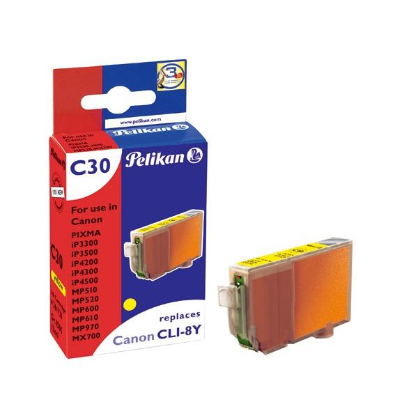 Cartouche imprimante Pelikan cartouche compatible CLI-8Y Pelikan cartouche compatible CLI-8Y (Jaune)