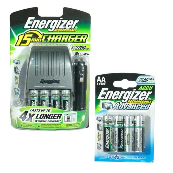 energizer chargeur 15 min livr avec 4 piles adaptateur de voiture 4 hr06 2500 ma. Black Bedroom Furniture Sets. Home Design Ideas