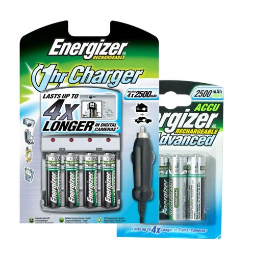 energizer chargeur 1 heure livr s avec 4 piles aa 2500. Black Bedroom Furniture Sets. Home Design Ideas