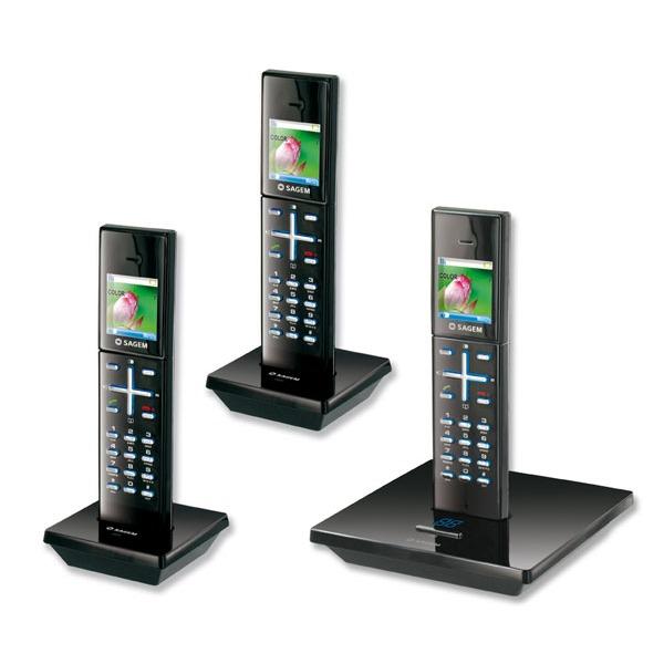 sagem d96v trio coloris noir t l phone sans fil sagem. Black Bedroom Furniture Sets. Home Design Ideas
