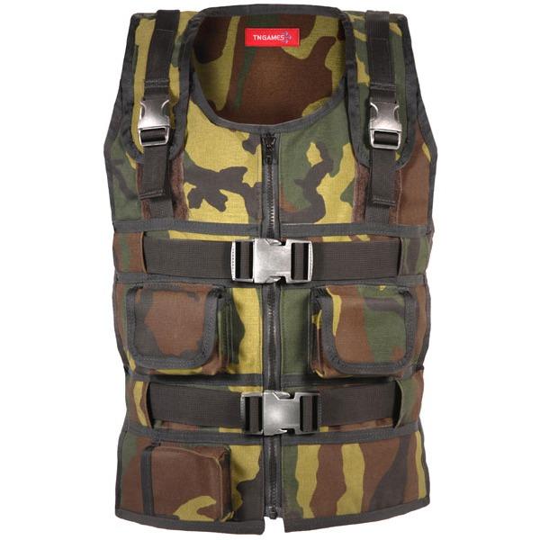 Joystick TN Games 3rd Space Vest Veste de simulation d'impacts - Coloris camouflage (Taille L/XL)