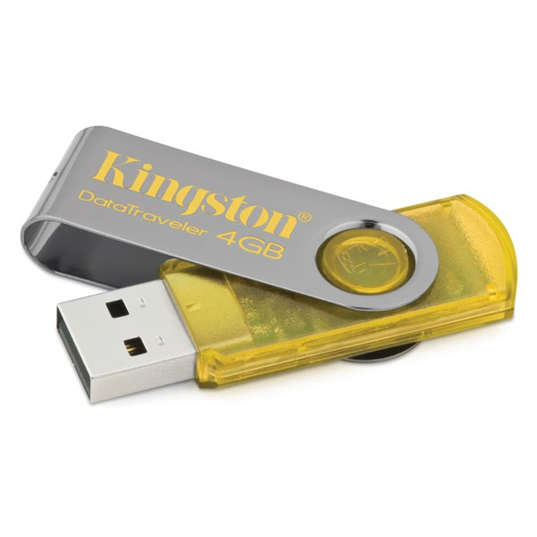 Clé USB Kingston DataTraveler 101 4 Go USB 2.0 Kingston DataTraveler 101 4 Go USB 2.0 - Coloris jaune (garantie 5 ans par Kingston)