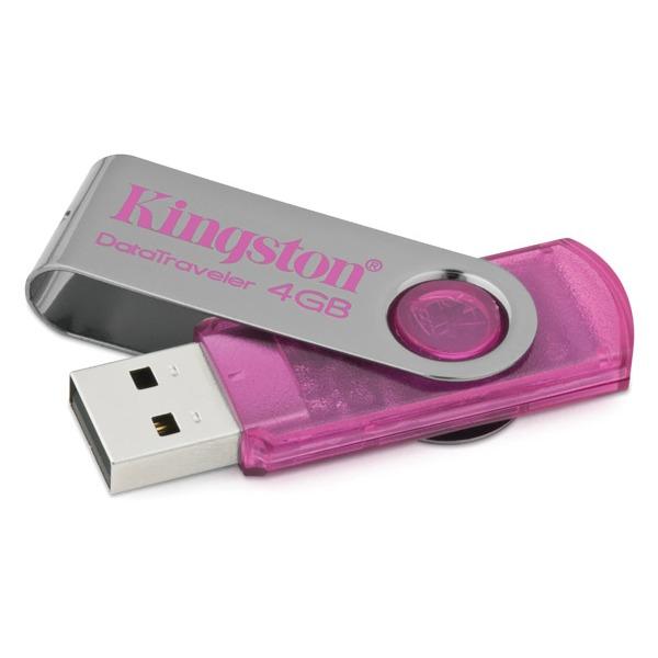 Clé USB Kingston DataTraveler 101 4 Go Kingston DataTraveler 101 4 Go USB 2.0 - Coloris rose (garantie 5 ans par Kingston)