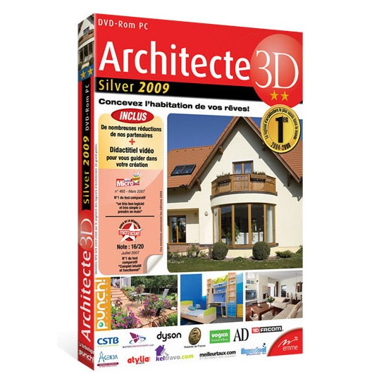 Architecte 3d silver 2009 avanquest france sur for Architecte 3d video