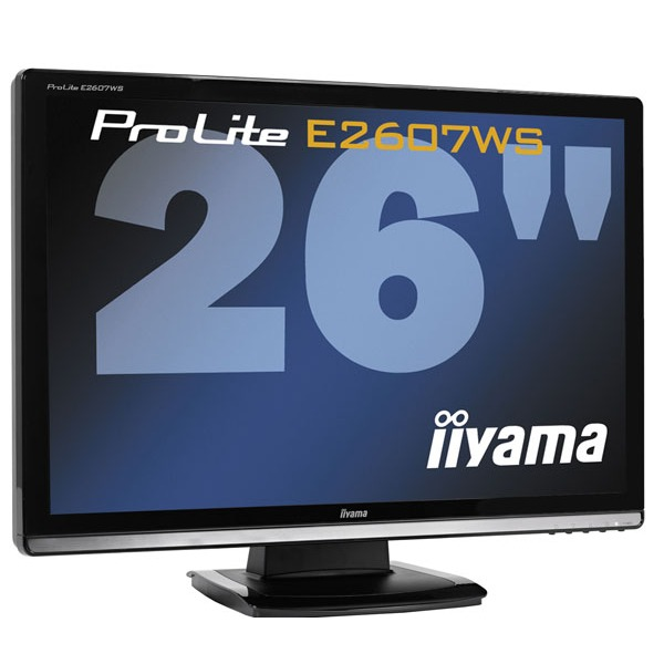 iiyama e2607ws b1 ecran pc iiyama sur. Black Bedroom Furniture Sets. Home Design Ideas