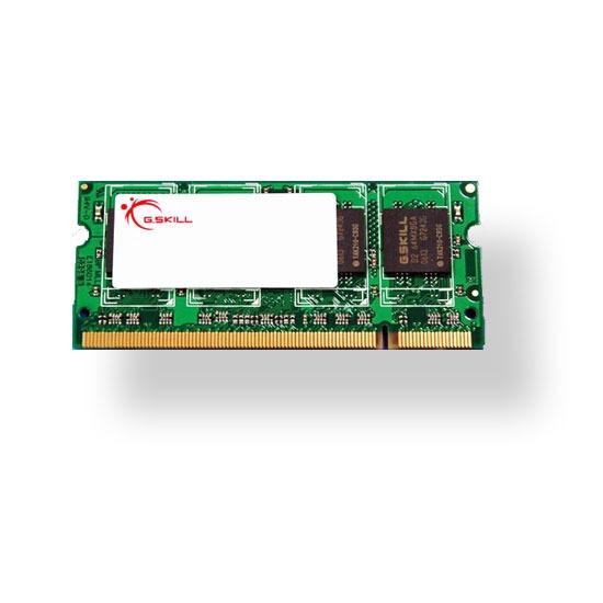 Mémoire PC G.Skill SODIMM 2 Go DDR2 800 MHz G.Skill SODIMM 2 Go DDR2-SDRAM PC2-6400 - F2-6400CL5S-2GBSQ