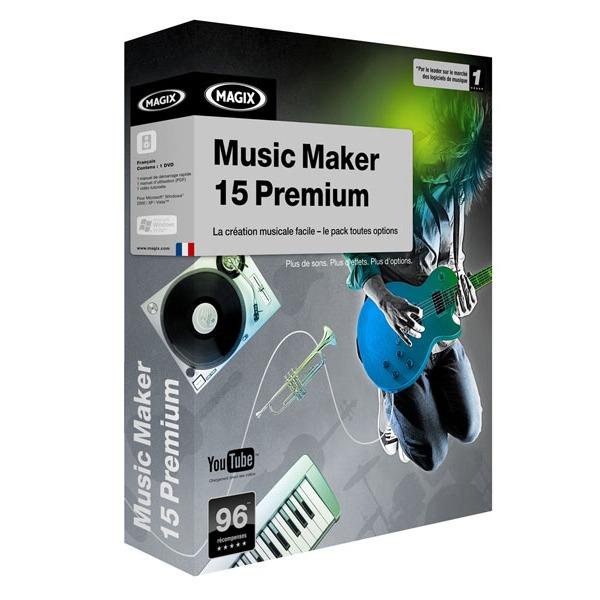 magix music maker 15 premium edition logiciel image son magix sur. Black Bedroom Furniture Sets. Home Design Ideas