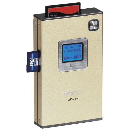 """Boîtier disque dur NextoDI NEXTO eXtreme ND2700 NextoDI NEXTO eXtreme ND2700 - Boîtier externe pour disque dur 2""""1/2 SATA II sur ports USB 2.0/eSATA II avec lecteur de cartes mémoire et écran LCD"""